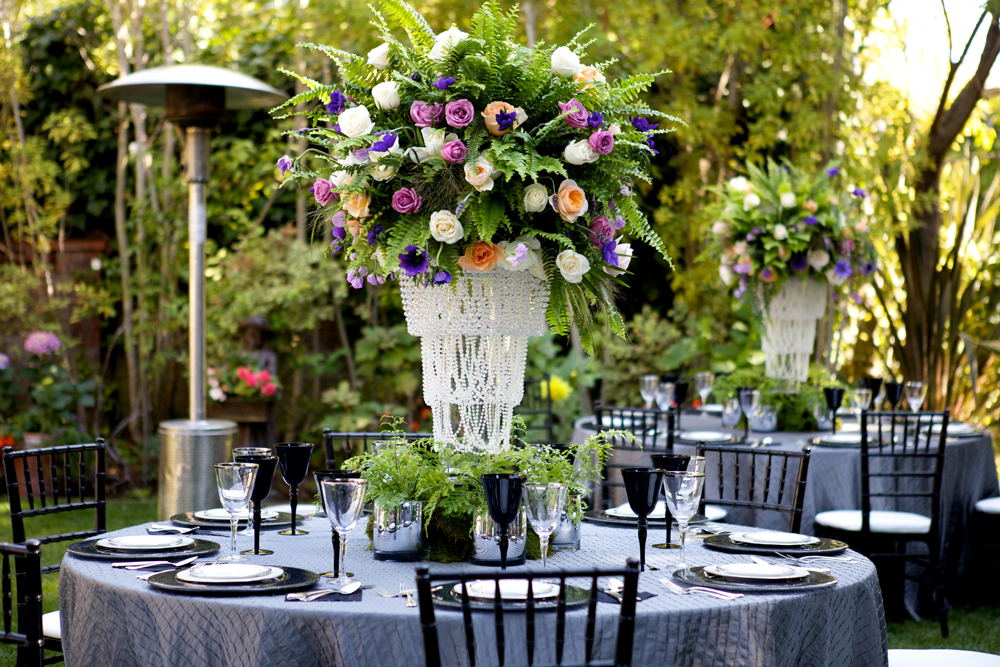 Purple and Black High Fashion Wedding